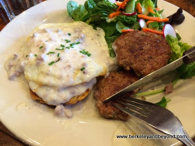 biscuits and gravy at Venus restaurant in Berkeley, California