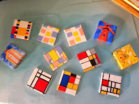 1st batch:  Kandinsky, Mondrian, Wright, and Klimt