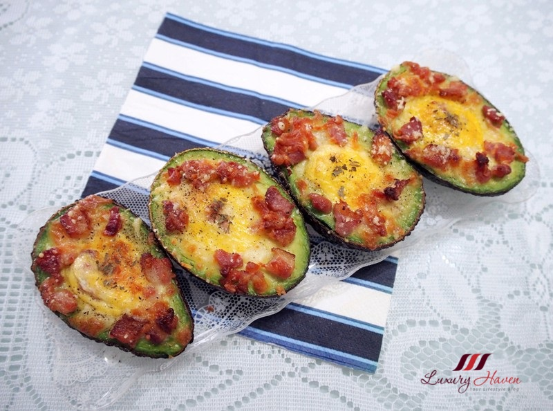 healthy breakfast treat baked eggs in avocado recipe