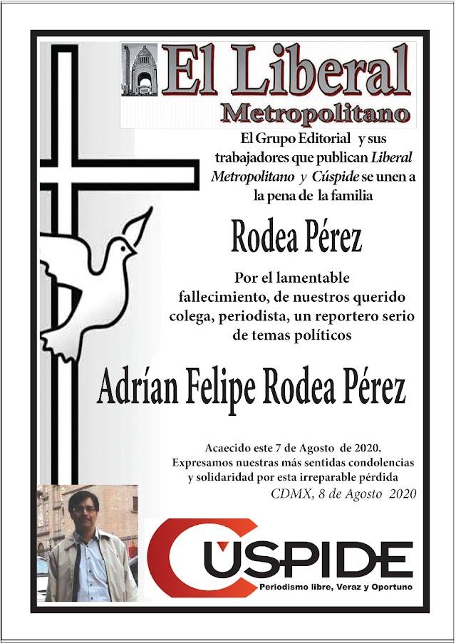 El gran Periodista Felipe Rodea muere por Covid