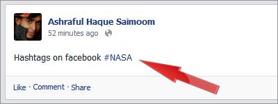 Facebook hashtag feature live