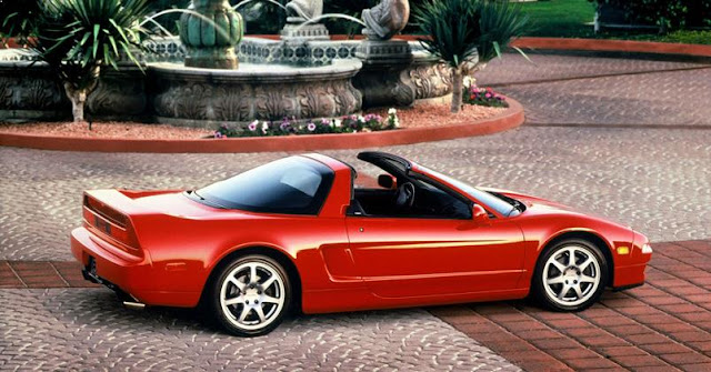 honda nsx red sports cars 90s