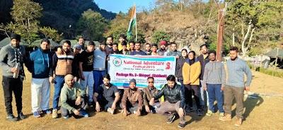 Jagranites brings Glory to Madhya Pradesh. Ayushi Rathore Awarded Best Girl Camper and Team Leader in the National Adventure Festival, Chandigarh.