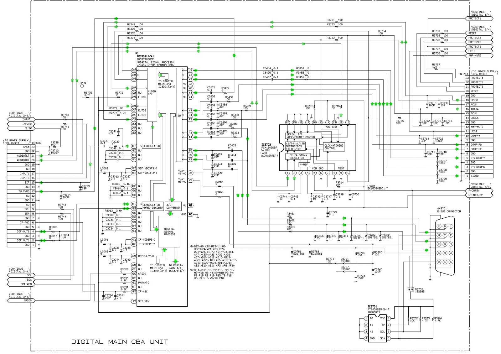 Crt Tv Circuit Board Diagram