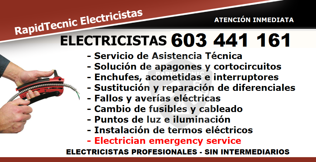 Rapidtecnic murcia electricistas churra murcia 603 441 161 - Electricistas en murcia ...