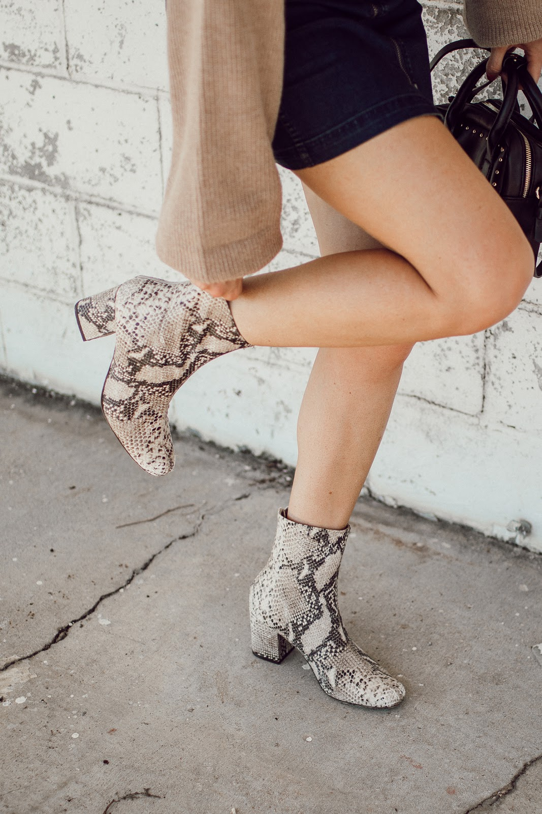 faux snakeskin ankle boots | free people
