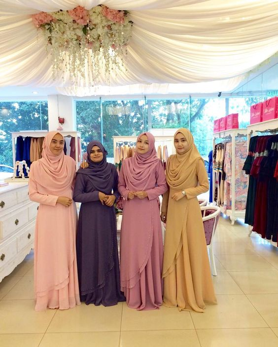 35 Model Baju Gamis Sifon Terlengkap 2019 Motif Kembang Dll