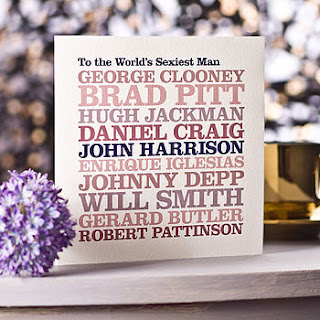 Worlds Sexiest Man Card, notonthehighstreet.com