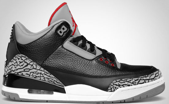 online store bd5d5 17e56 Air Jordan 3 Retro (11 25 2011) 136064-010 Black Varsity Red-Cement Grey   160.00