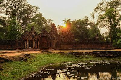 Coucher de soleil - Banteay Srei - Angkor - Cambodge