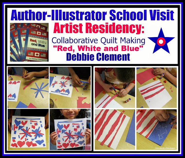 "Author-Illustrator School Visit: Artist Residency ""Red, White and Blue"" Patriotic Response"