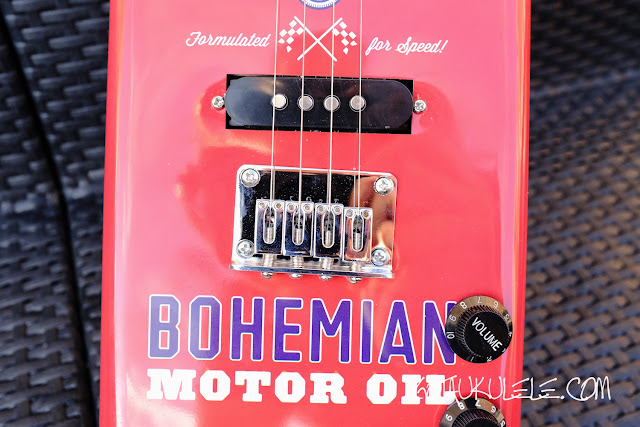 Bohemian Electric Soprano Ukulele bridge and pickup