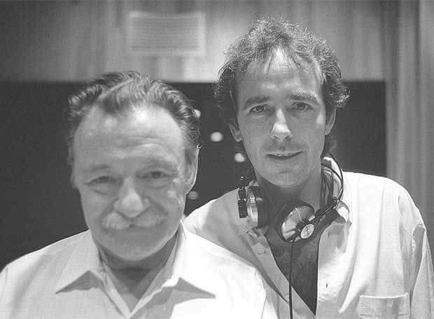 El gran Mario Benedetti con Joan Manuel Serrat.