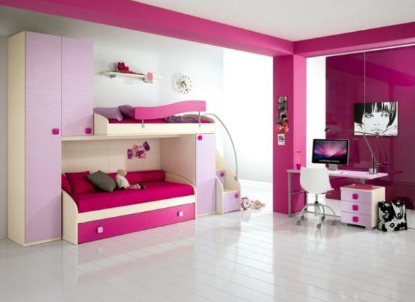 Dormitorios juveniles en color fucsia dormitorios for Cuartos de ninas fucsia
