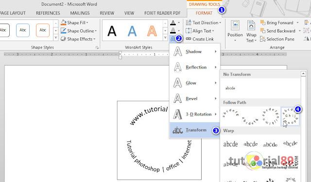 Cara mudah membuat tulisan melingkar di word + video