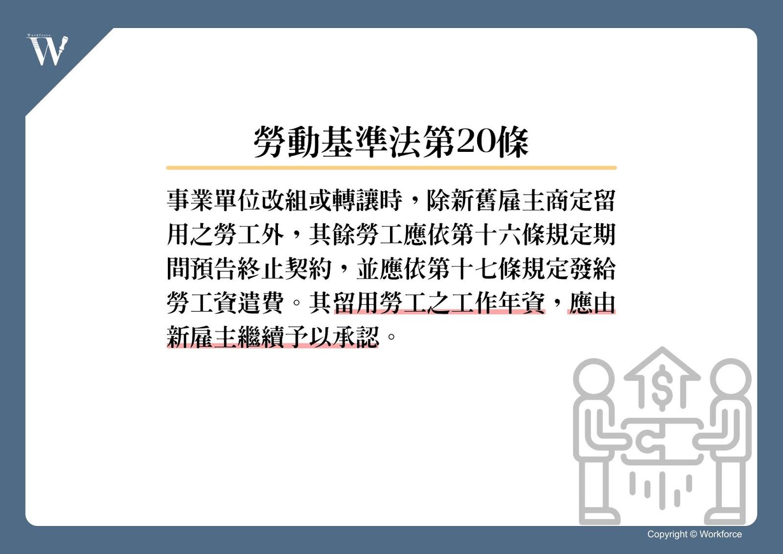 勞動基準法第20條