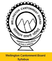 Wellington Cantonment Board Safaiwala Syllabus
