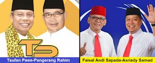 Dua pasang calon walikota dan wakil walikota Parepare 2108