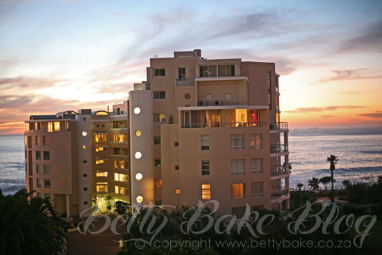 sunset, view, protea hotel, bantry bay, cape town, south africa, betty bake blog