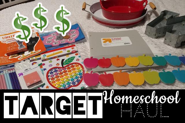 Target Dollar Spot Homeschool Haul