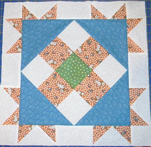 Corner Star Block Free Quilt Pattern