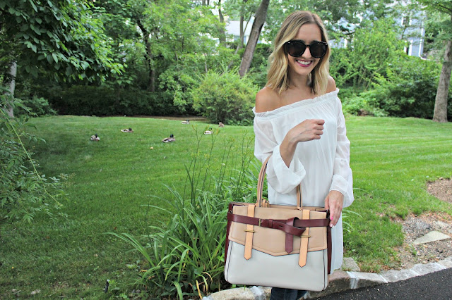 white off shoulder tunic