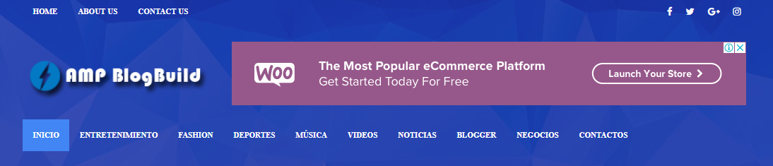 Plantilla de Blogger gratis en Amp - AMP Blog Build