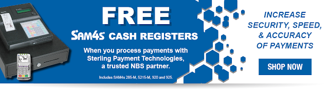 Free Cash Registers from SAM4s and the Cash Register Guys.