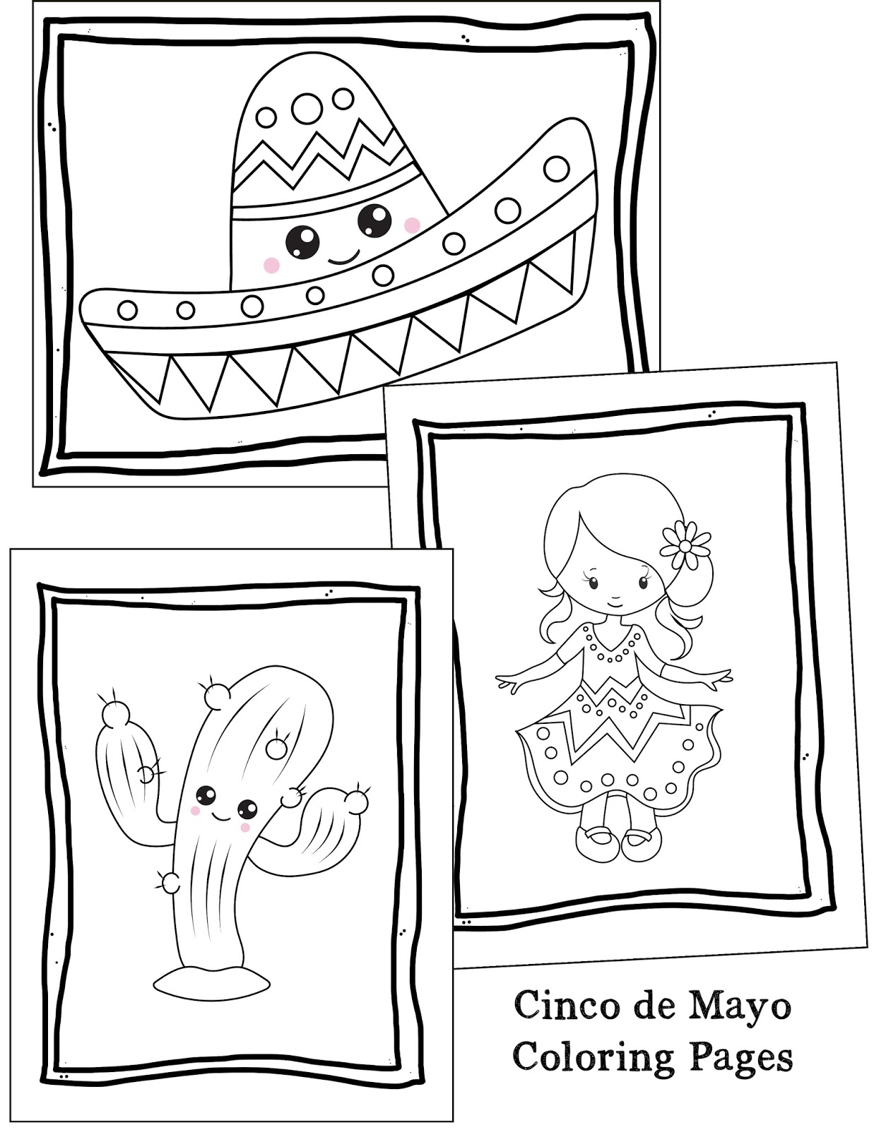 Cinco De Mayo Celebration Free Coloring Pages For Kids - Printable ... | 1600x1237