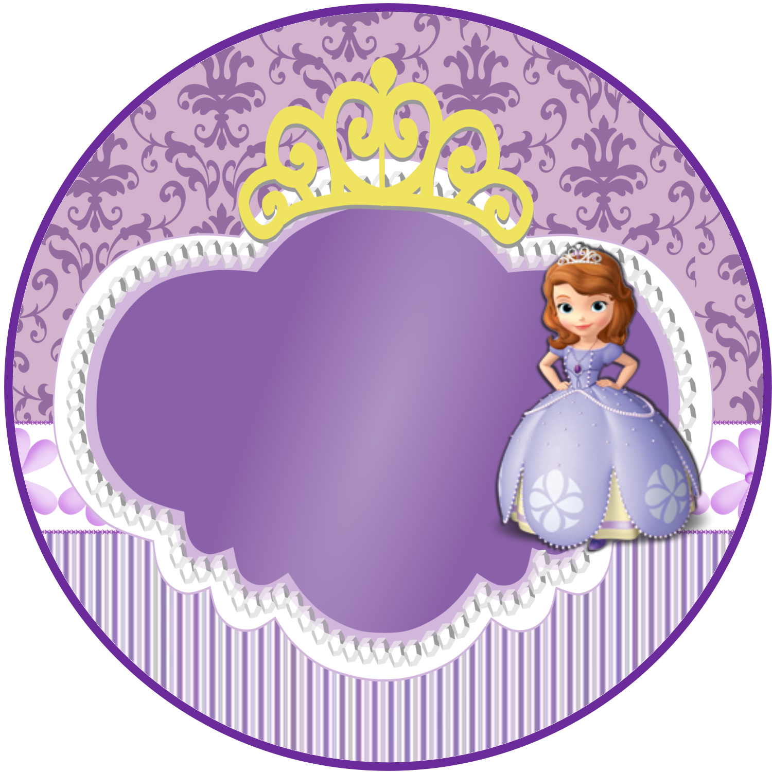 Sweet Sofia the First: Free Printable Invitations and Candy Bar ...
