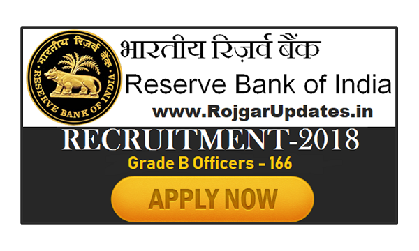 Reserve Bank of India Recruitment 2018