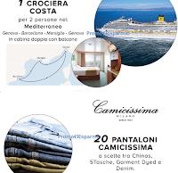 Logo Concorso ''Vinci con Camicissima'': 360 buoni acquisto e 18 crociere nel Mediterraneo