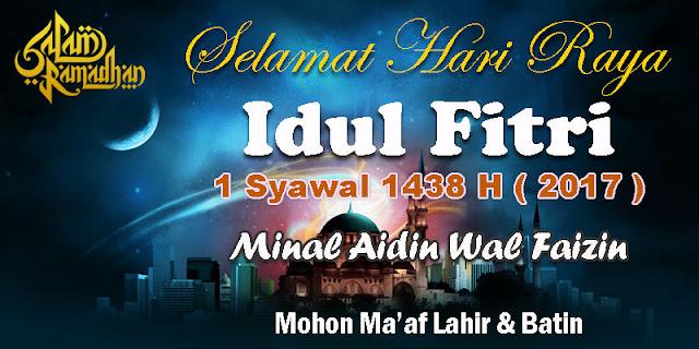 Gambar Desain Banner Idul Fitri 1