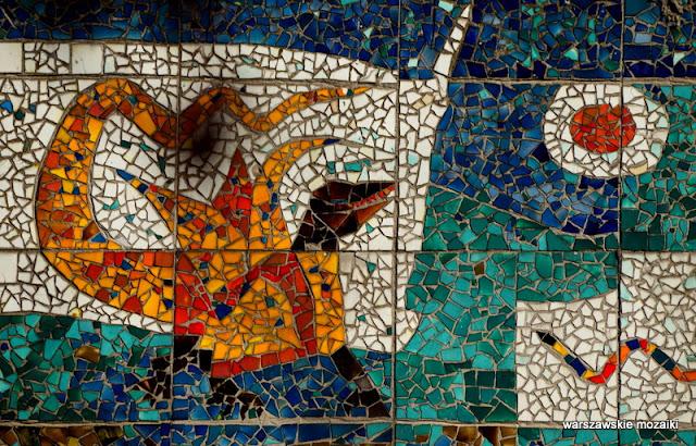 Rezedowa Marysin Wawerski warszawskie mozaiki Domicella Bożekowska Saturn Warszawa Warsaw