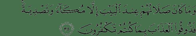 Surat Al Anfal Ayat 35