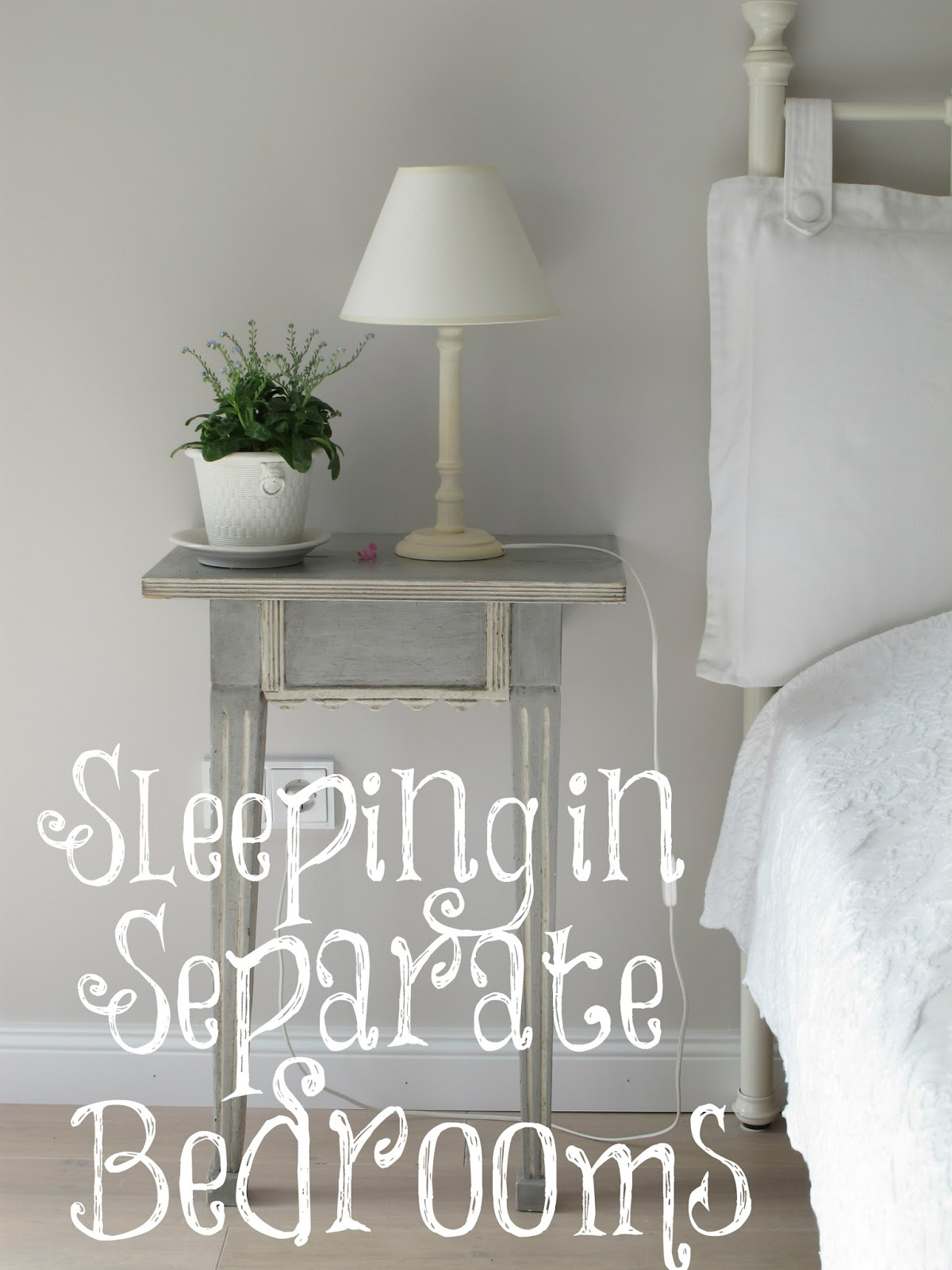 One reader asked me if I thought it was okay for married people to sleep in separate  bedrooms  I told her I didn t see a problem with it as long as they. Always Learning  Sleeping in Separate Bedrooms