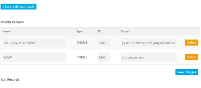 Add the CNAME record in Domain Name Provider