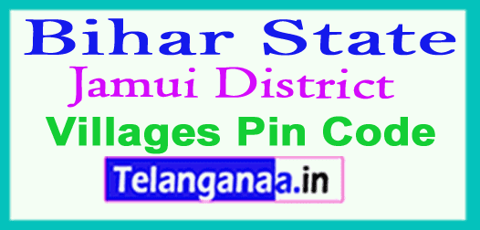 Jamui District Pin Codes in Bihar State