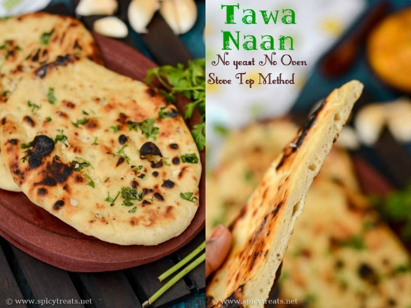 Tawa Garlic Naan