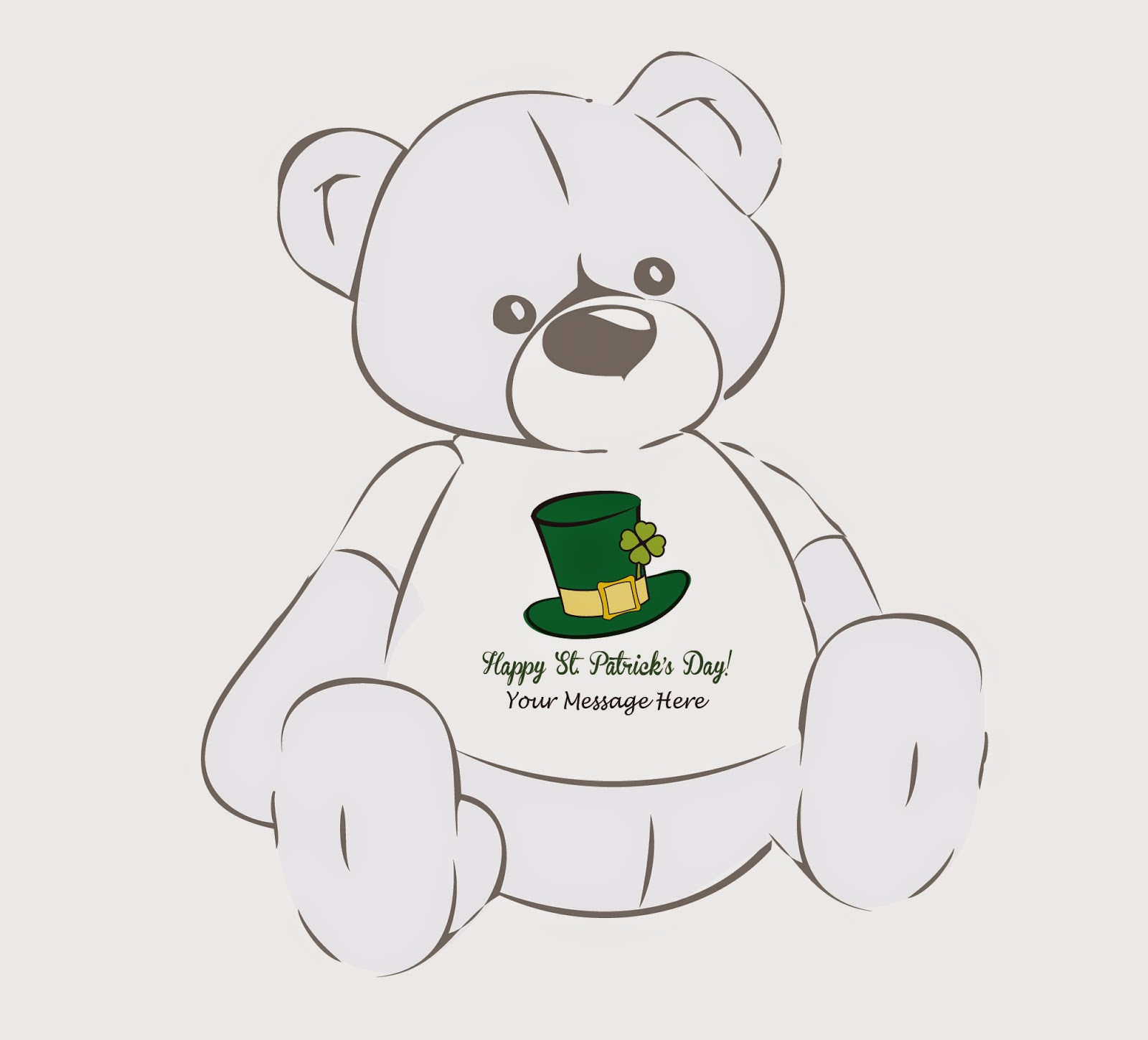 A personalized Giant Teddy bear for St. Patrick's Day