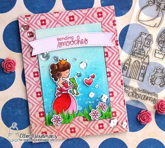 Princess Card by Ellen Haxelmans | Once Upon a Princess stamp set by Newton's Nook Designs #newtonsnook #princess #handmade
