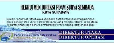 Lowongan Kerja PDAM Surya Sembada Kota Surabaya Desember 2016