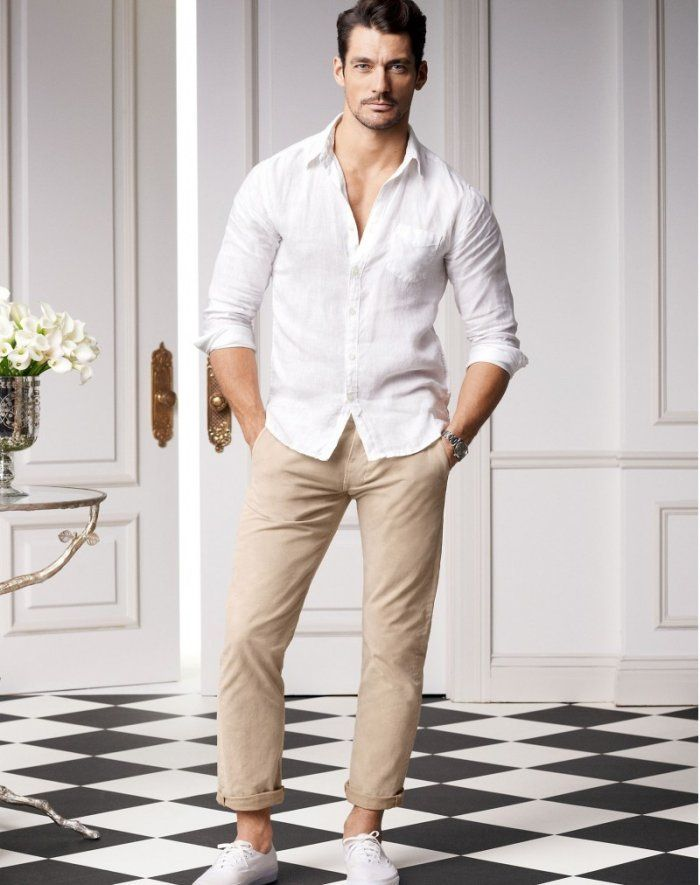 b3b9513d27d White shirt with chino - Chinos are great casual wear for summers and what  better way to style them with than a classic white shirt right