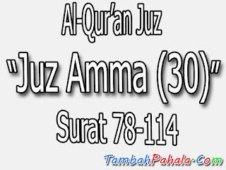 Al-Qur'an, juz 30, Juz Amma