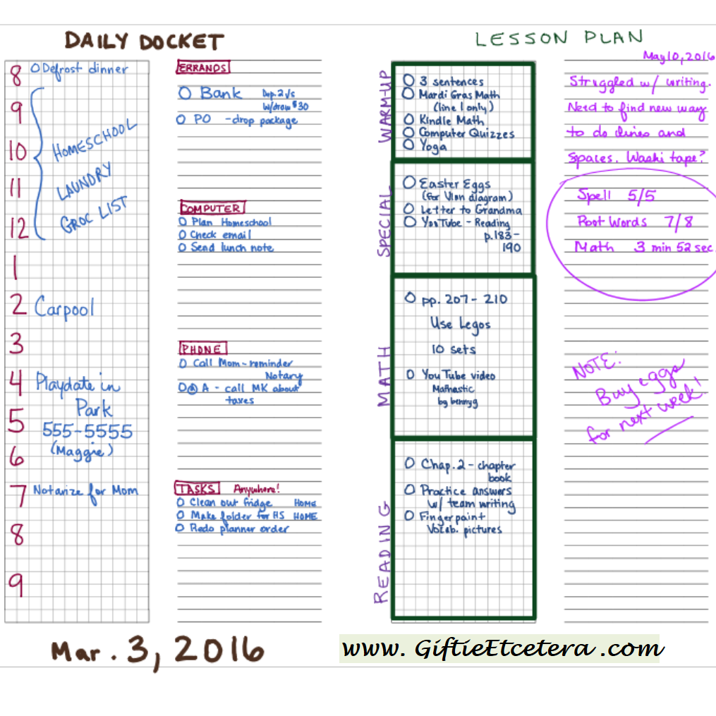 photograph regarding Daily Docket Printable titled Free of charge Planner Printable - Graph and Covered Paper Giftie