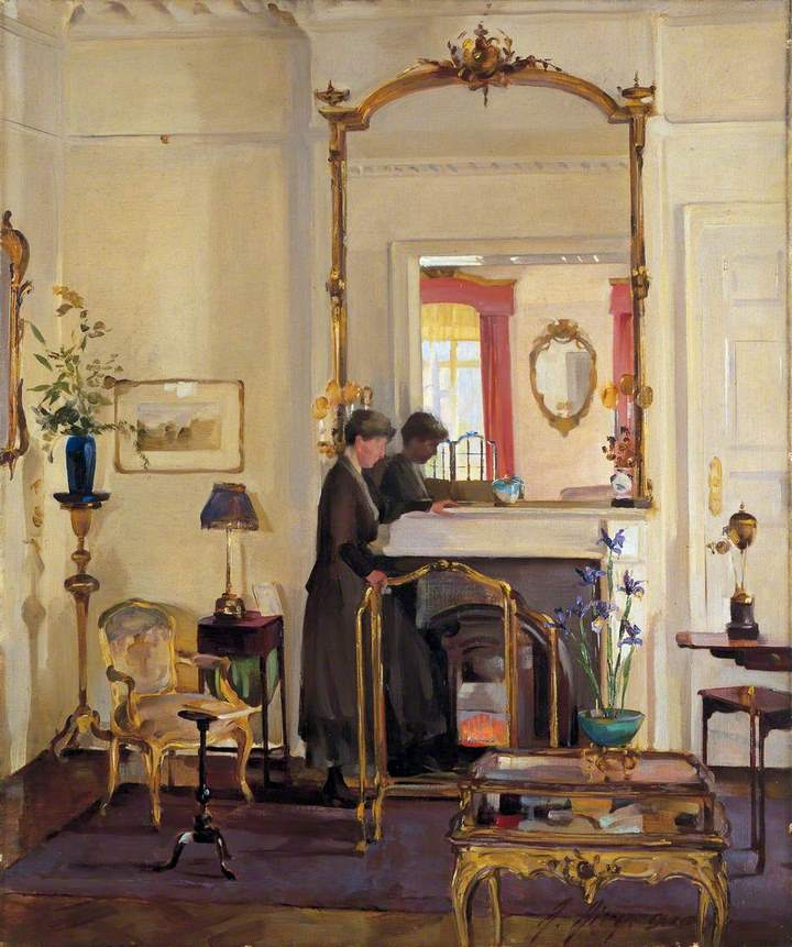 Interior with Mrs Charles Burnand. Anna Airy