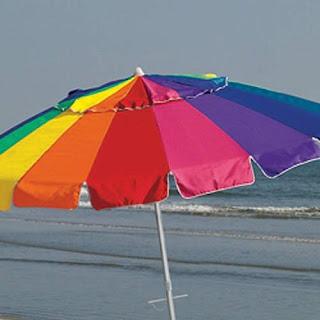 8ft Rainbow Multicolor Patio Beach Umbrella2017