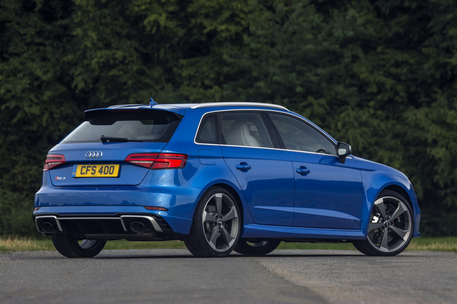 new 400ps audi rs3 arrives in the uk priced from 44 300 otr. Black Bedroom Furniture Sets. Home Design Ideas