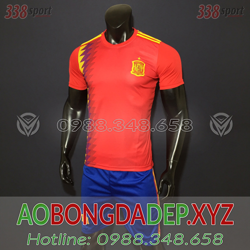 Áo Tây Ban Nha 2019 Sân Nhà Màu Đỏ Đẹp