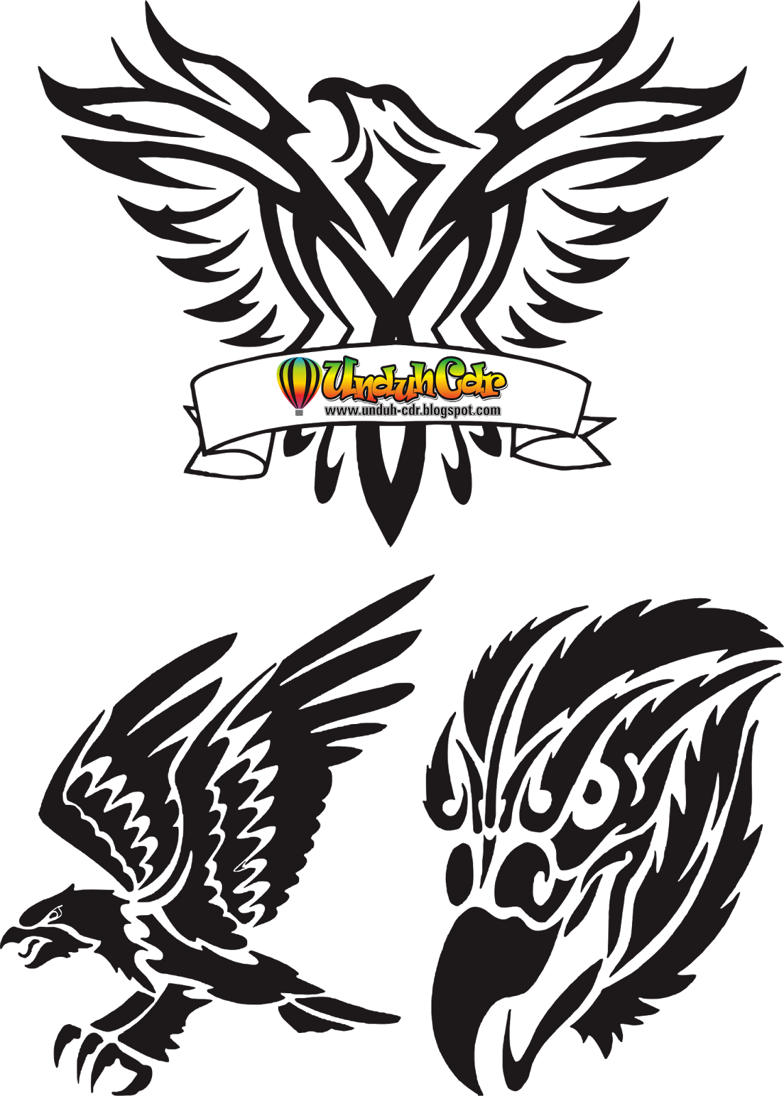 Gambar Unduh Cdr Gratis Download Tatto Elang Vector File